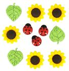 Jesse James Buttons Dress It Up Ladybugs SUNFLOWER 168 Sewing Crafts
