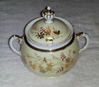 Antique/Vintage China Sugar Bowl - Hand Painted Scenes - Gold & White Trim - 6