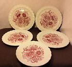 Red Floral Vintage plates TAYLOR SMITH & TAYLOR USA - 4 salad & 2 saucers