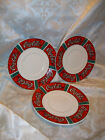 3 GIBSON COKE COCA-COLA STAINED GLASS DESIGN SAUCERS