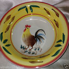 PHILIPPE RICHARD COUNTRY VIEW ROOSTER SOUP/CEREAL/SALAD BOWL CHICKEN BROWN LEAF