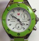 Michele Women's Tahitian Jelly Bean LIME GREEN Chronograph Watch MWW12D000006