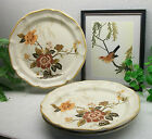 3   Mikasa China Garden Club IMPERIAL GARDEN  Rim Dinner Plates  EC 459  Japan