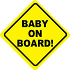 Baby on Board Vinyl Stickers Vehicle Car Graphics