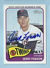 JERRY FOSNOW 2014 TOPPS HERITAGE REAL ONE AUTOGRAPHS AUTOGRAPH AUTO