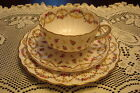 Royal Worcester 3 pieces set, cup, saucer and cake plate, small flowers
