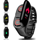 OLED Smart Watch Bluetooth Heaset Fitness Tracker For All iPhones Android Phones