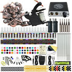Beginner Complete Tattoo Kit 2 Machine Gun 40 Color Ink Power Supply Tip Needle