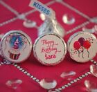108 Birthday Cupcake with Candle, Balloons Hershey Kiss Labels Stickers Favors