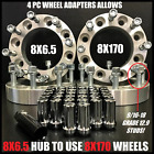 8X65 TO 8X170 WHEEL ADAPTERS 9 16 18 STUDS PUT FORD WHEELS ON DODGE 15 INCH