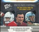 2014 Press Pass Draft Picks Football Hobby 2 Box Lot with 6 Autographs each