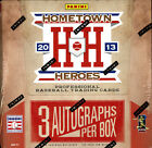 2013 PANINI HOMETOWN HEROES BASEBALL HOBBY BOX FACTORY SEALED NEW 3 AUTOGRAPHS