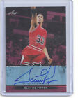 2013 LEAF METAL BASKETBALL SCOTTIE PIPPEN RED REFRACTOR AUTO SIGNATURE 2 5