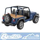 Bestop Duster Deck Cover 97 02 Jeep Wrangler TJ Spice w Factory Soft Top