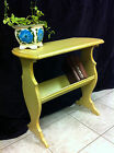 Antique Side/End TABLE BOOKSHELF/TELEPHONE WOOD French Country Cottage Painted