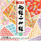 Pack of 100 Sheets Japanese 6 Origami Artwork Folding Paper Washi Chiyogami Set