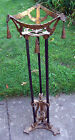 ANTIQUE CAST IRON FISH BOWL STAND BY  CHICAGO ART FOUNDRY CO AKA VERONICA