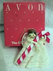 Avon Gift Collection Heavenly Angel Tree Ornament with Candy Cane Lace dress 3