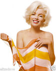 MARILYN MONROE Smiling and Holding Sheer Striped Scarf Rare 8x10 Photo