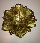 Vintage Lemon Leaves Solid Brass Dresser/Card Tray CHC Chautauqua Hardware