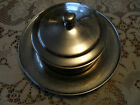 VINTAGE 4PC~DJ JAPAN~ silverplate COVERED BUTTER*LINER*UNDERPLATE~HOTEL WARE