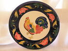 New 222 Fifth Blue & White Regal Country French Rooster Salad Dessert Plate Dish