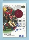 TERRELL OWENS 2000 UD PROS & PROSPECTS GOLD GAME JERSEY AUTOGRAPH AUTO 81