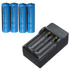 4Pcs 3.7V 1200mAh 14500 AA Li-ion Rechargeable Battery +Double Charger For Lamp