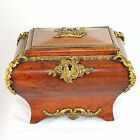 Antique French Louis XV jewelry box, casket wood music box