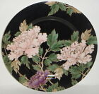 Fitz & Floyd  Cloisonne Peony-Black   Salad / Accent Plate