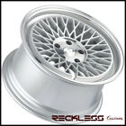 18 KLUTCH SLC 1 Mesh Concave Wheels Rims Staggered Step Lip Fits Volkswagen GTI