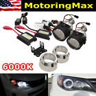 2.5 Mini Bi-xenon Retrofit Projector Lens Wh1 Hid Conversion Kit Shroud Combo