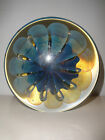 1994 SIGNED EICKHOLT STUDIO ART GLASS  DISC PAPERWEIGHT LARGE 5