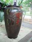 MI JAPAN TREE BARK CLOISONNE' LARGE VASE