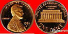 1981 S Lincoln Cent Type 1 Deep Cameo Gem Proof No Reserve