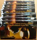 LOT OF TEN (10) 1995 US MINT SETS -- 100 UNCIRCULATED BU COINS IN MINT CELLO P+D