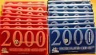 LOT TEN (10) 2000 US MINT SETS -- 200 BU COINS MINT CELLO P+D ST QTRS SAC DOLLAR