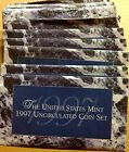 LOT OF TEN (10) 1997 US MINT SETS -- 100 UNCIRCULATED BU COINS IN MINT CELLO P+D
