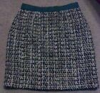 Kate Spade Kylie tweed pencil skirt sz. 4 wool green gold brown cream yellow