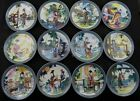 Chinese porcelain collection of decorative painting Red 12 beautiful plates