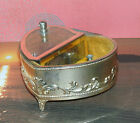 Vtg~ Heart Shaped Music Box-Made In Japan - Feelings- toyo (parts or restoration