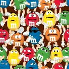 Large M&M's Packed Cotton Print Fabric 24