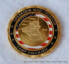 CAMP FALLUJAH IRAQ Challenge Coin US Military base Army Marines Air Force Navy
