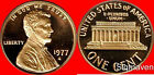 1977 S Lincoln Cent Deep Cameo Gem Proof No Reserve