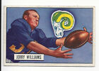 Jerry Williams 1951 Bowman NFL Football Card # 114 Rams