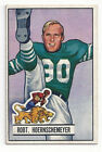 Robert Hoenrschemeyer 1951 Bowman NFL Football Card # 63 Lions