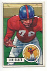 Jon Baker 1951 Bowman NFL Football Card # 57 Giants