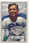Barney Poole 1951 Bowman NFL Football Card # 9 Yanks