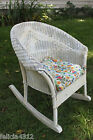 VINTAGE ANTIQUE LLOYD LOOM CHILDS KIDS WICKER ROCKING CHAIR - VERY NICE!