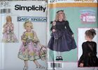 NIP Choice of Simplicity Daisy Kingdom Party Dress Sewing Pattern 4903 or 5132